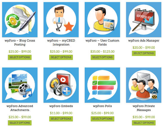 wpForo Forum WordPress Addons