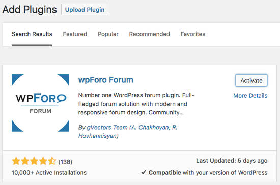 wpForo Forum WordPress Install