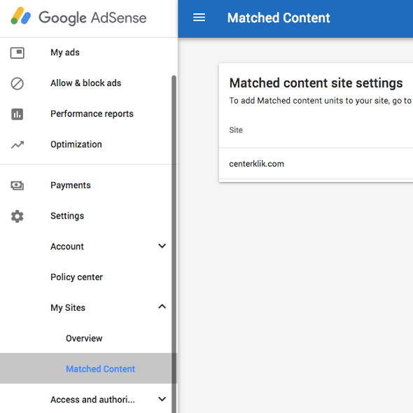 AdSense Matched Content WordPress