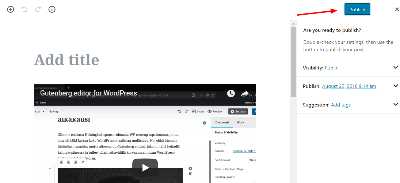 Editor Gutenberg WordPress 13