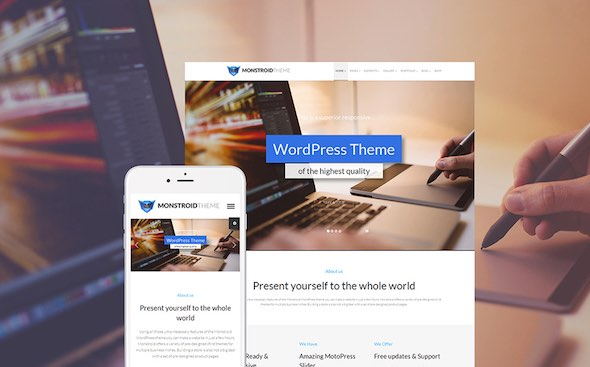 Monstroid - Tema WordPress Terbaik