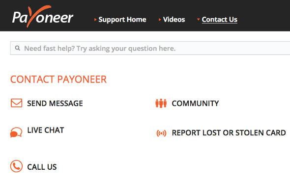 Support Payoneer