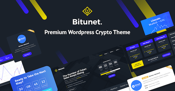 WordPress Theme Cryptocurrency Bitunet
