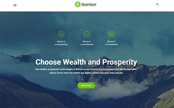 WordPress Theme bitcoin bitonion
