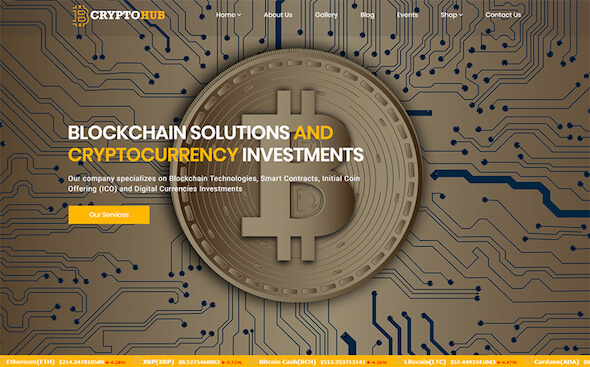 WordPress bitcoin cryptohub