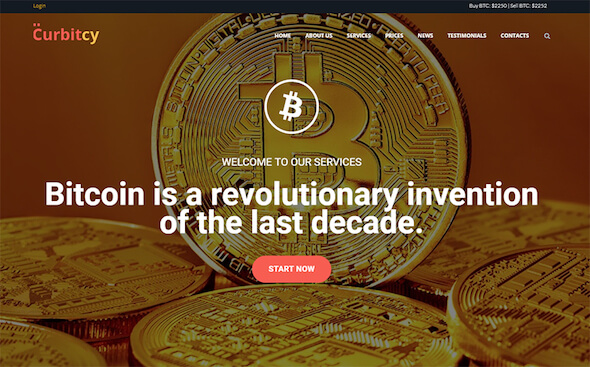 WordPress Theme Cryptocurrency curbitcy