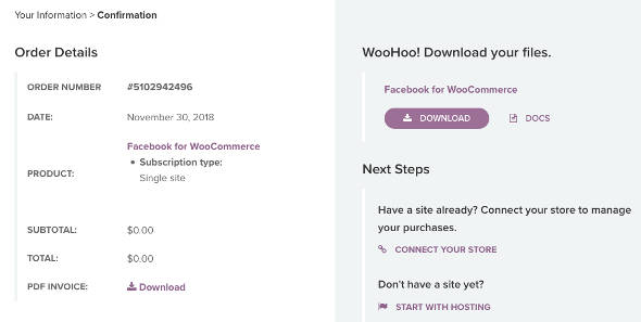 Facebook for WooCommerce download