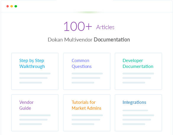Dokan WooCommerce Multivendor Documentation