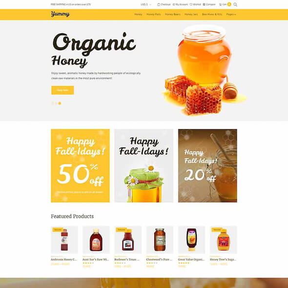Food Gourmet WooCommerce Themes 5
