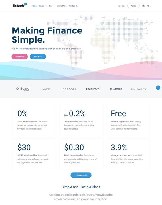 Best WordPress Themes for Forex 8