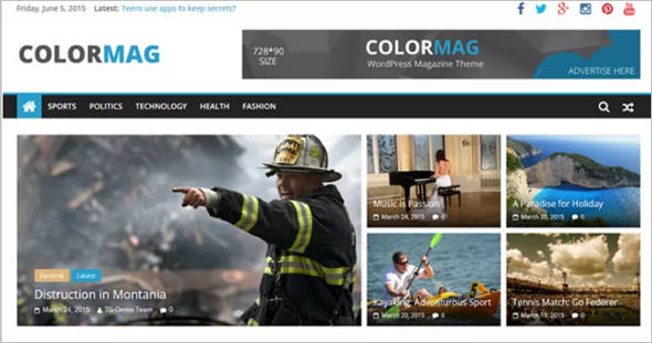 ColorMag tema WordPress gutenberg