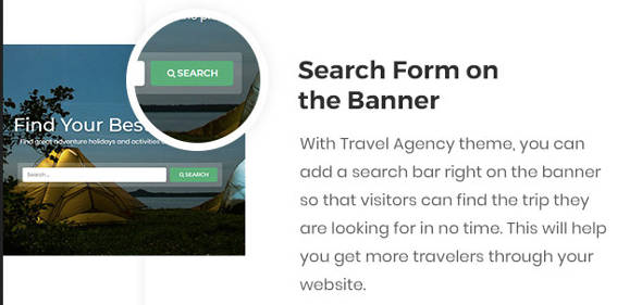 Travel Agency Theme Search
