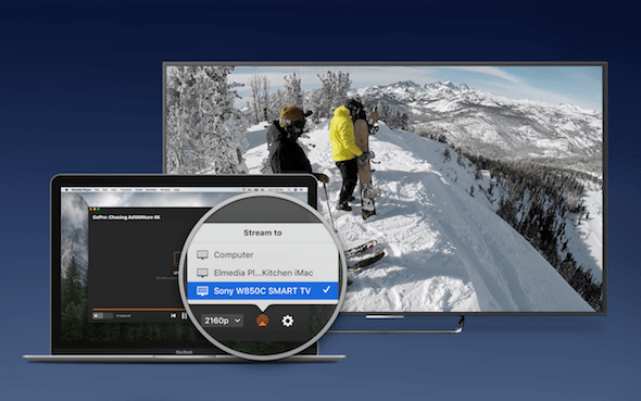 Elmedia Player SmartTV Pemutar video Mac OS