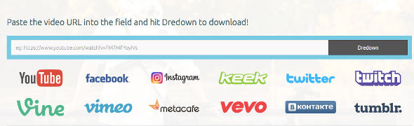 Download video instagram dredown