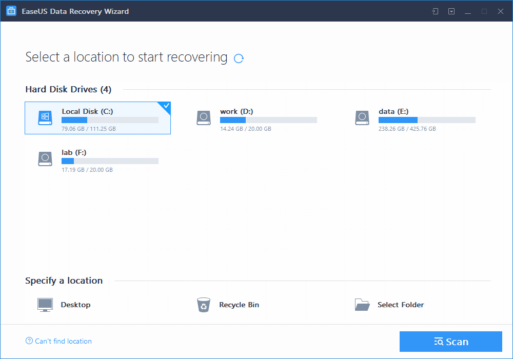 EaseUS Data Recovery Wizard 1
