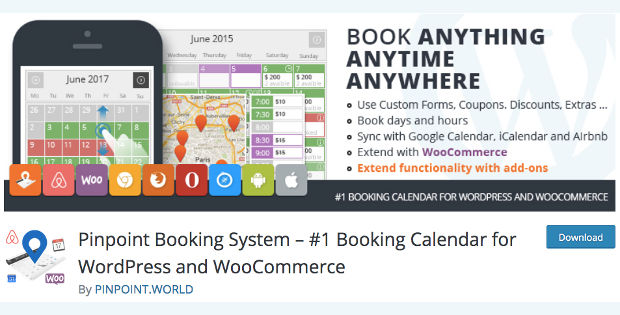 Pinpoint booking system WordPress