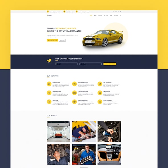 Automobile Car Dealer WordPress