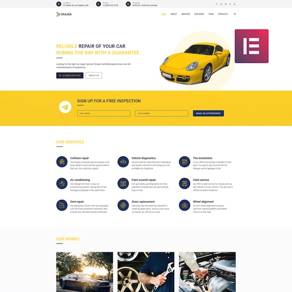 Draxer tema wordpress dealer mobil