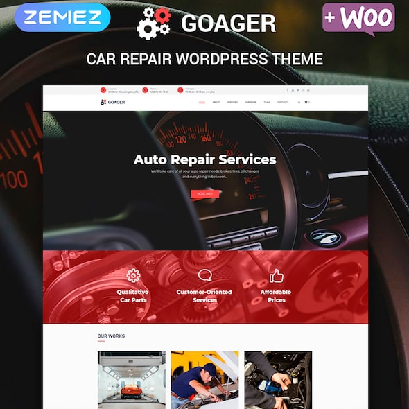 Goager tema wordpress dealer mobil