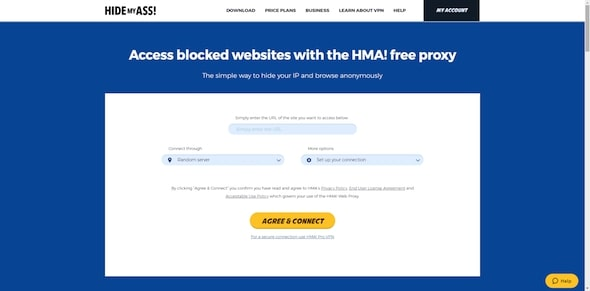 HIdemyass Web Server Proxy gratis