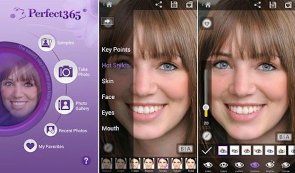 Perfect365 aplikasi edit foto instagram terbaik