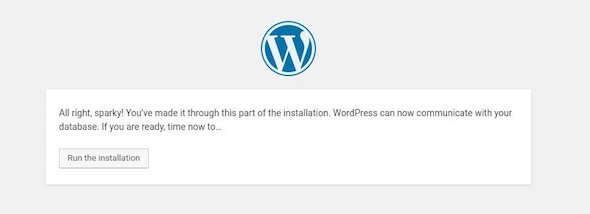 Ubuntu instal wordpress run installation