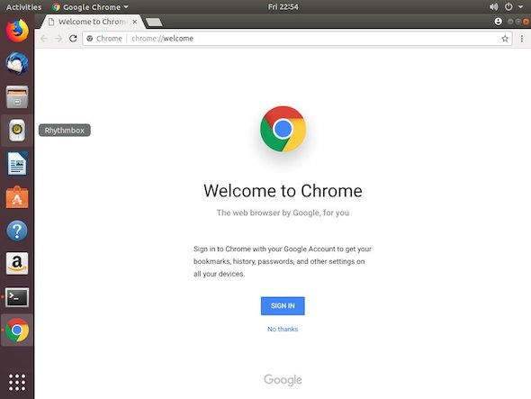 Welcome Google chrome ubuntu install