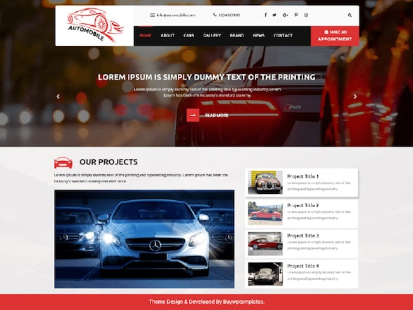 Tema wordpress dealer mobil