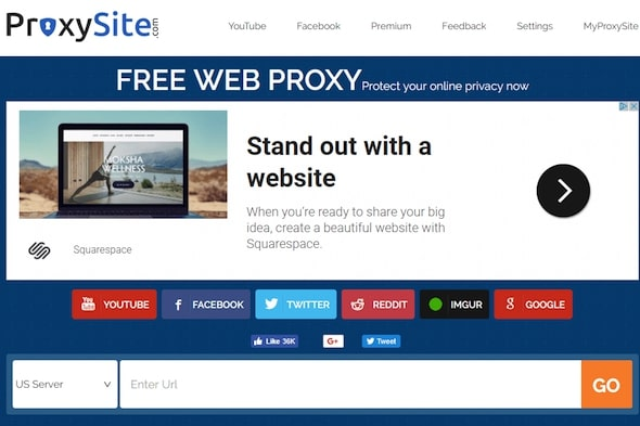 proxysite Web Server Proxy terbaik