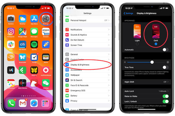 Dark Mode Gelap iOS 13