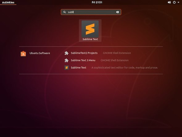 start sublime text ubuntu