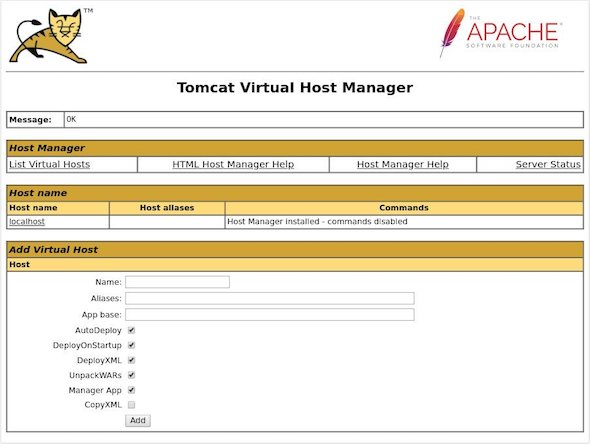 how to install tomcat in ubuntu host manager