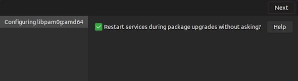 restart package upgrade