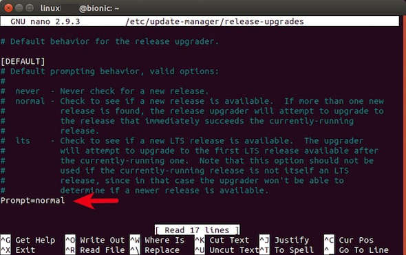 upgrade ubuntu 19.04 command line