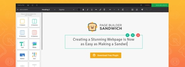 Page Builder Sandwich Front End Page Builder
