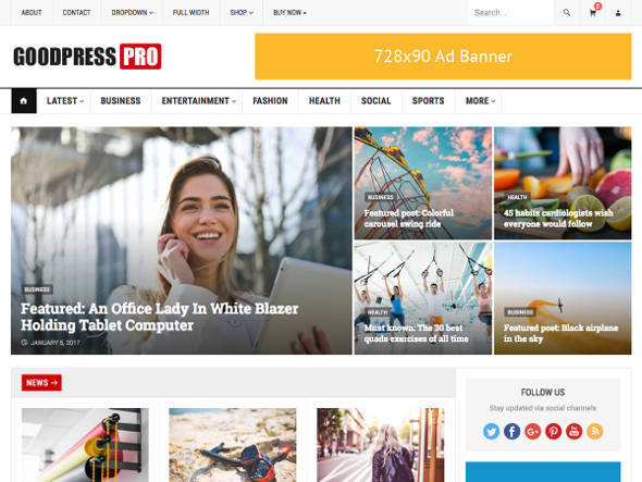 goodpress pro tema wordpress premium murah