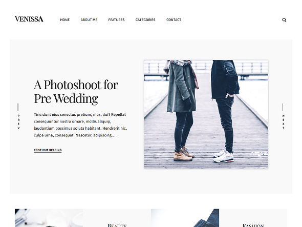 venissa theme WordPress