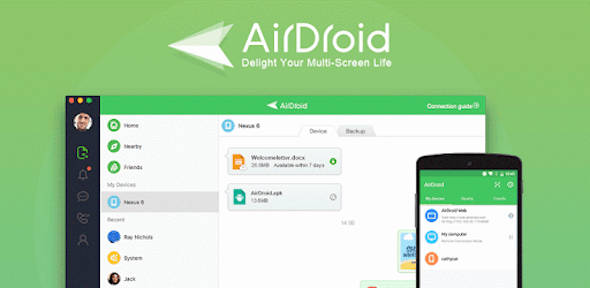airdroid file transfer android mac