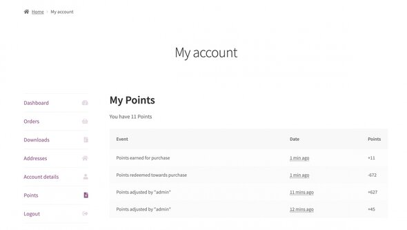 points rewards customer mypoints