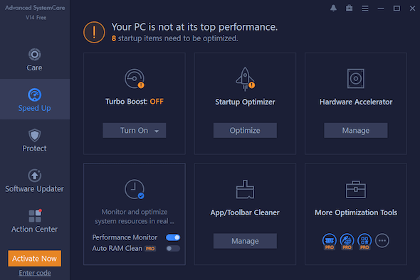 Advanced SystemCare 14 Speed Up