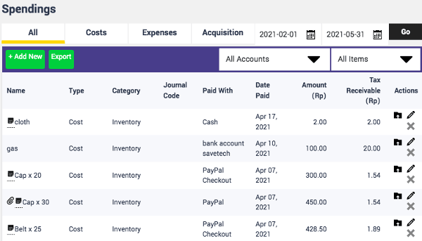 Finpose Spendings WooCommerce Accounting