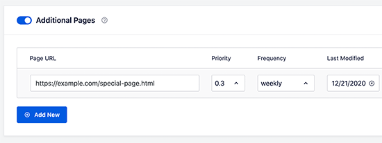 pasang pages sitemap