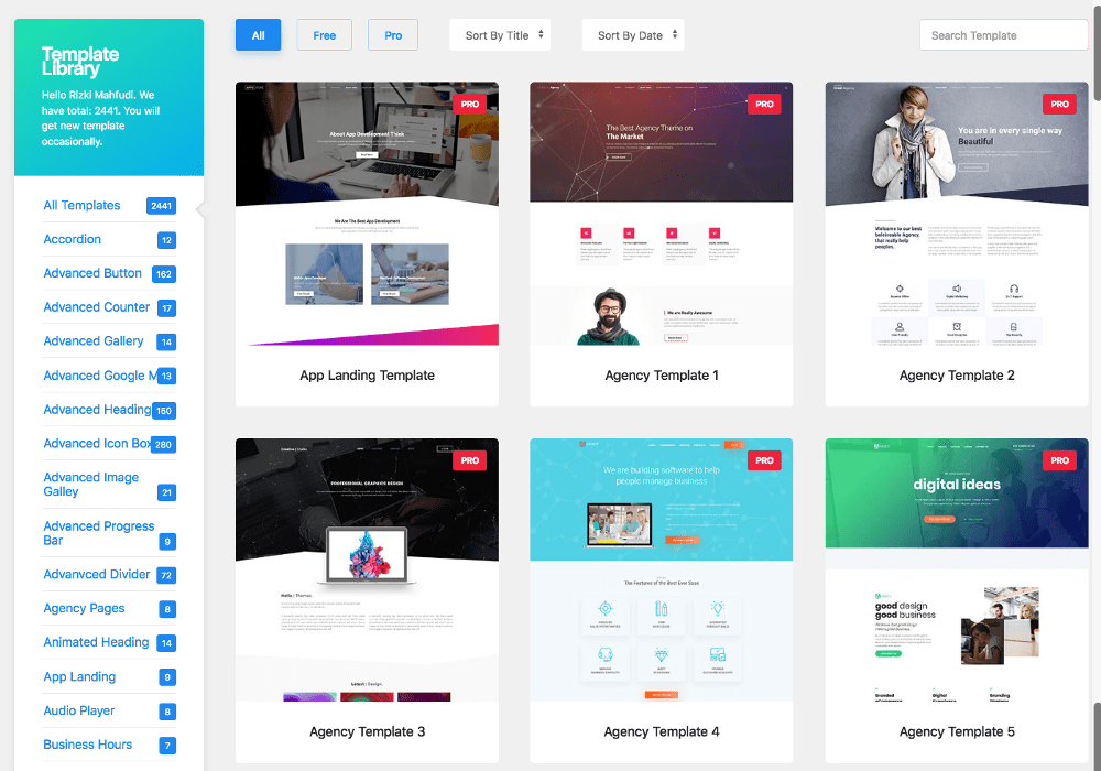template element pack pro